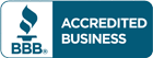 Accredited Business according to the Better Business Bureau.